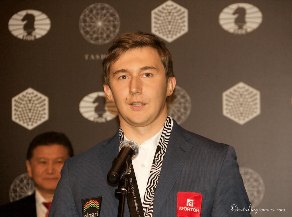 Шахматы. Выступление победителя. Сергей Карякин